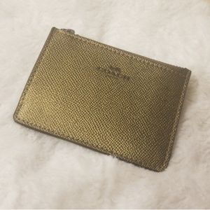 Coach Gold Mini Wallet